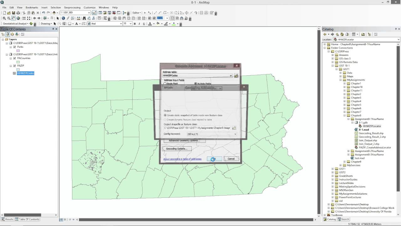 Gis tutorial 1 assignment 8 1 for version 101 geocoding youtube gis tutorial 1 assignment 8 1 for version 101 geocoding sciox Gallery
