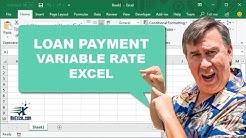 "Learn Excel 2010 - ""Variable Rate Loan Payment"": Podcast #1438"