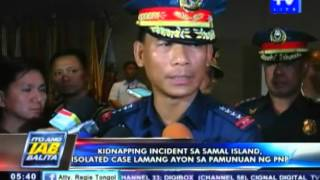 Kidnapping incident sa Samal island, isolated case lamang — PNP