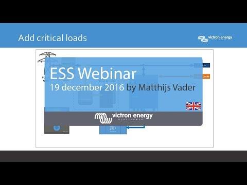 ESS (Energy Storage System) Webinar | 19 December 2016 | Victron Energy