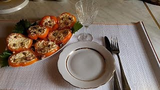 Демисезонная холодная закуска с болгарским перцем и сыром
