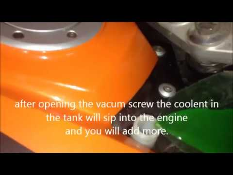 how to replace the coolant on ktm duke 125/200