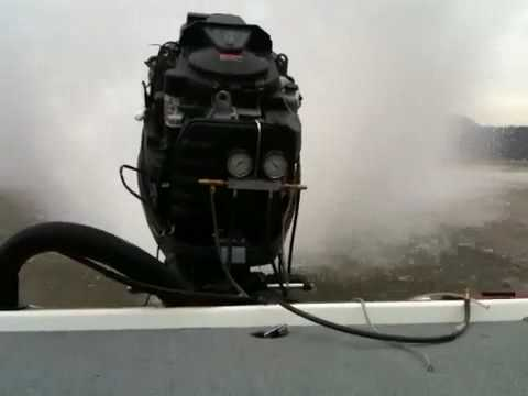 Yamaha hpdi burning off fogging oil funnydog tv for Winterizing yamaha 300 outboard