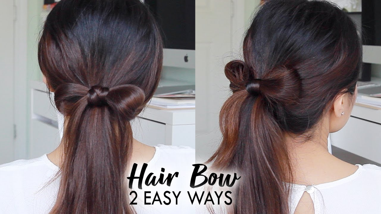 How To Hair Bow Tutorial Easy Hairstyles For Long Hair Youtube