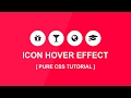 how to create css Icon Hover Effect - Font Awesome icon - Plz SUBSCRIBE Us For Daily Videos