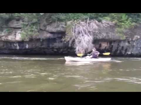 Floating the Middle Brazos River at 22,000 CFs.