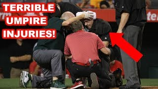 MLB | TERRIBLE UMPIRE INJURIES! | 1080p HD