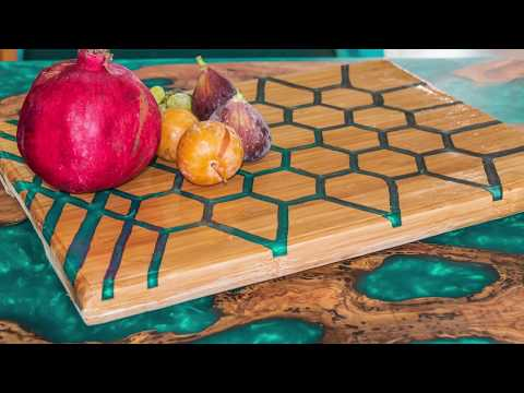 Epoxy Honeycomb Serving Board