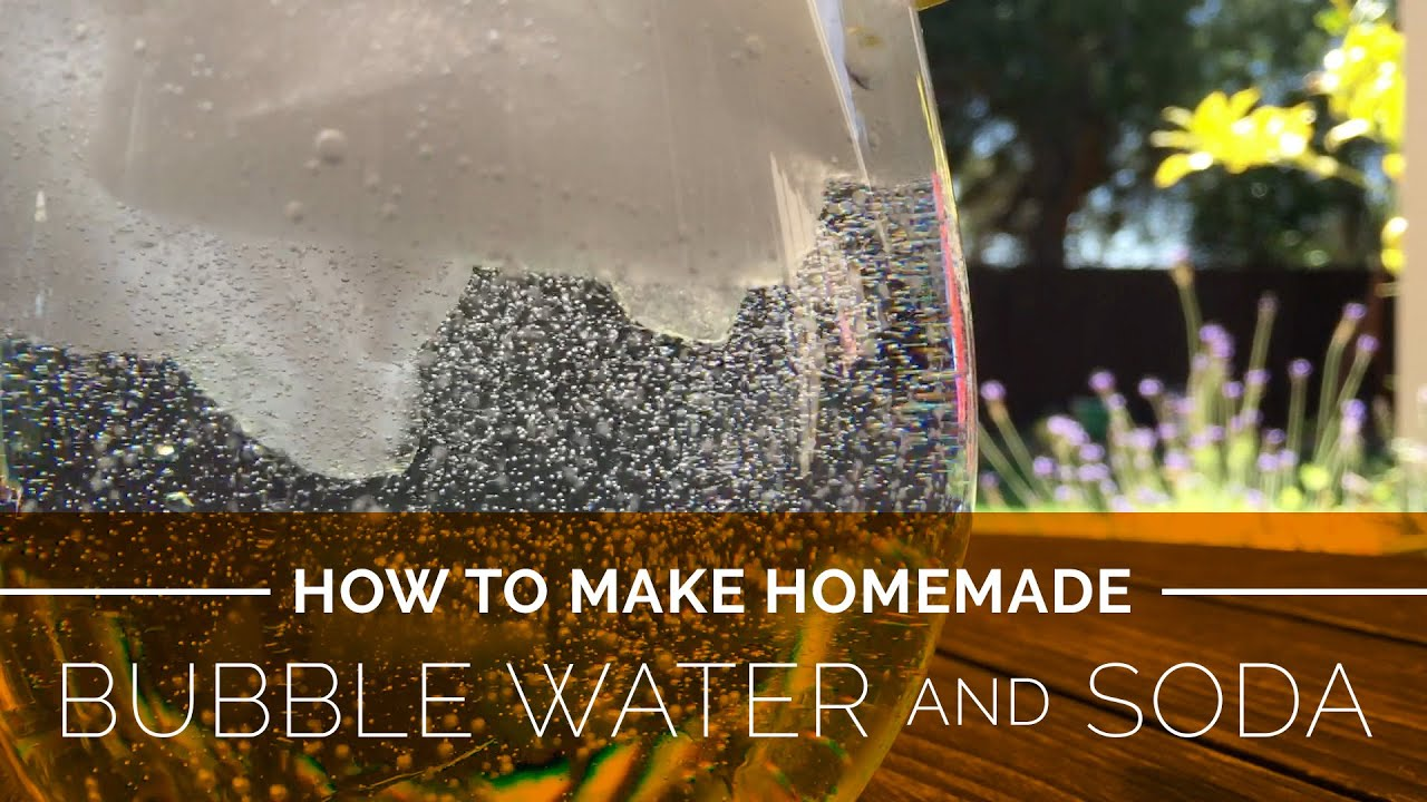 How to Make Homemade Sparkling Water and Soda - YouTube