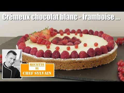 crémeux-chocolat-blanc-et-framboises---recette-gourmande-par-chef-sylvain-!