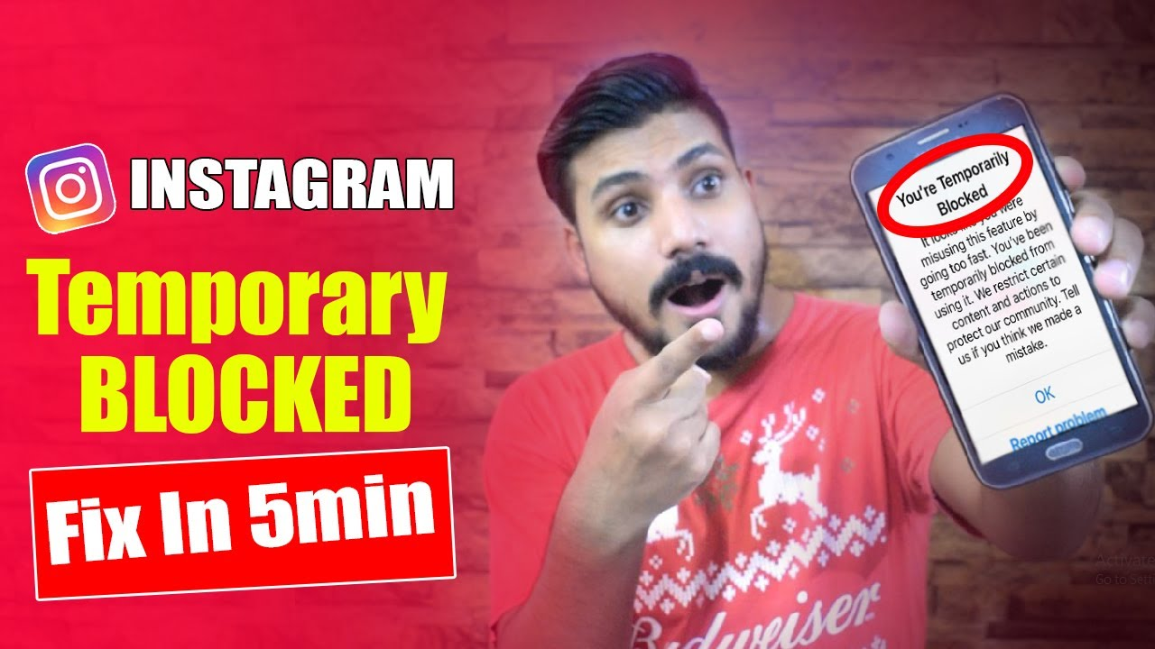Fix Instagram Temporarily Blocked 2020 | Remove Instagram Action Blocked Hindi Urdu