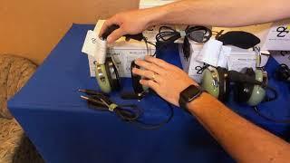 David Clark Passive Headsets - virtual airshow demo
