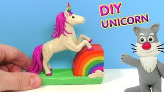 ЕДИНОРОГ ЛЕПИМ ИЗ ПЛАСТИЛИНА | DIY UNICORN