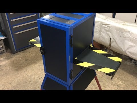 HOMEMADE DRILL PRESS STAND WITH STORAGE