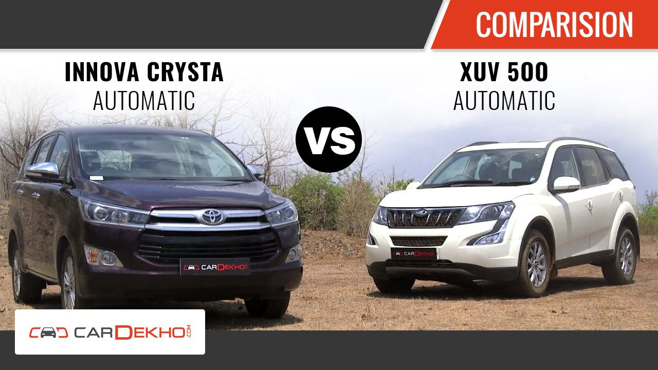 toyota innova crysta automatic vs xuv 500 automatic | comparison