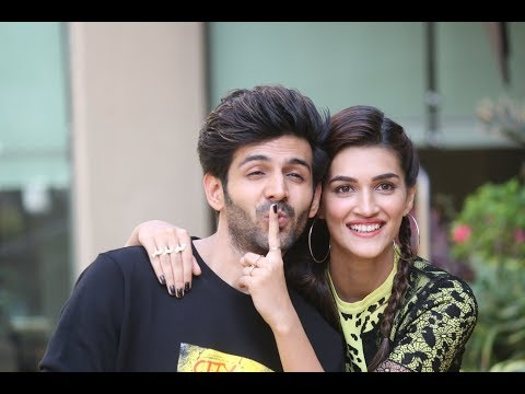 The Stars Of Luka Chuppi, Kriti Sanon And Kartik Aaryan Promote Their Film.