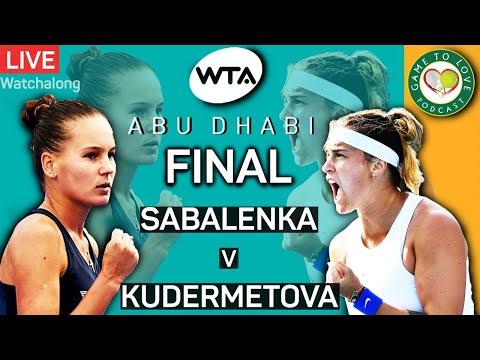 WTA Abu Dhabi Open Final 2021 | Sabalenka vs Kudermetova | GTL Tennis Podcast LIVE Watchalong