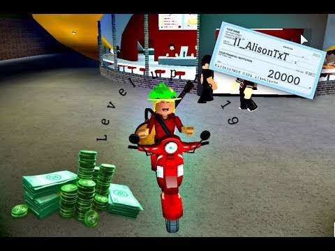 Roblox Bloxburg Pizza Delivery Level Up To 18 Youtube