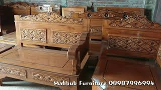 Mebel Kursi Tamu Sudut L Minimalis Finishing Teak Natural Jati Original