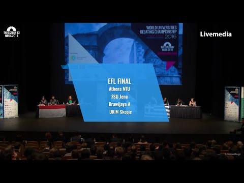 Thessaloniki WUDC 2016 - Finals | EFL FINAL