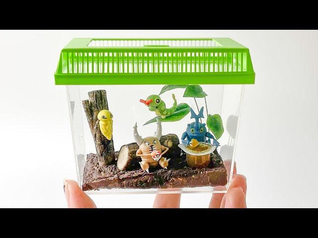 【粘土】ポケモン虫かご 作ってみた - Bug Pokemon Cage Polymer Clay