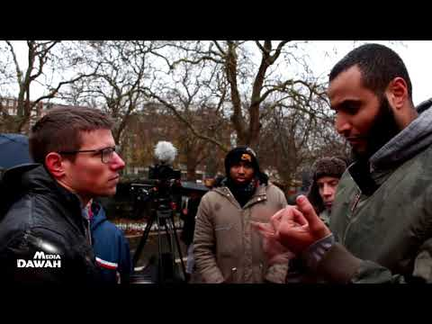 Atheist Slaps Tall Muslim with his Evidences