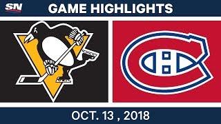 Nhl Highlights | Penguins Vs. Canadiens   Oct. 13, 2018