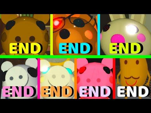 Roblox - All 7 Endings - Piggy!