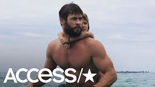 Chris Hemsworth Shows Off His Muscles On A Fun Family Camping Trip   Access