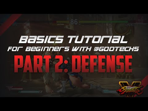 Street Fighter V 101 Basics Tutorial for Beginners with @gootecks - Part 2: Defense (Ryu) - 동영상