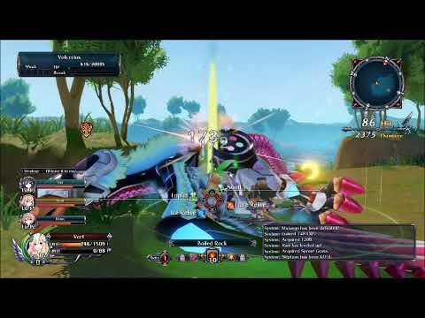 Cyberdimension Neptunia 4 Goddesses Online Boss Fight #4 Volcerios |