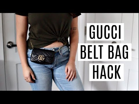 6b3aaea0e98 HOW TO WEAR THE GUCCI MARMONT SUPER MINI AS A BELT BAG WITH A LARGER WAIST