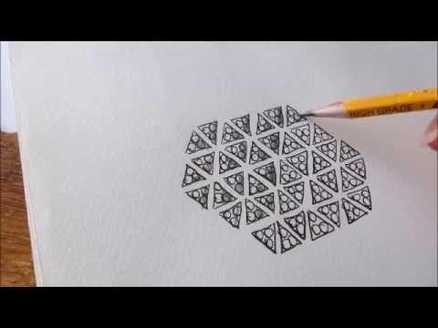 How to draw tanglepattern Tripoli