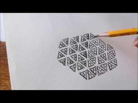 How to draw tanglepattern Tripoli