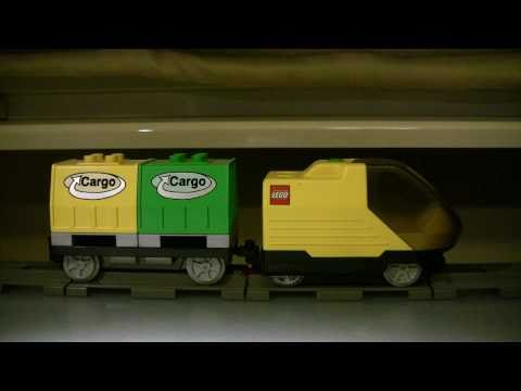 Lego Duplo Intelli Train Engine With Cargo Smart-car & Cargo Code Brick
