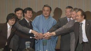 日本相撲協会の控訴断念により復帰が決まった蒼国来関が3日、東京都内...