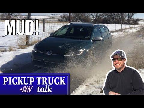 2019 VW Golf Alltrack Review, Muddy, Snowy Wyoming Roads