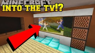 Repeat youtube video Minecraft: GOING INTO THE TV?!? - Hidden Buttons 7 - Custom Map