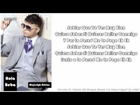 Farruko - Hola Beba (Lyrics)(Prod. Rome La Mano Negra & Dj Urba)