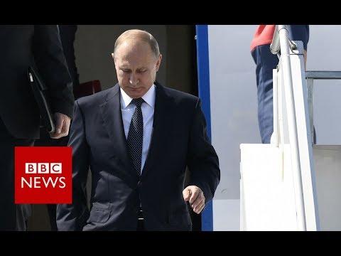 Russian President Vladimir Putin arrives in Helsinki  - BBC News