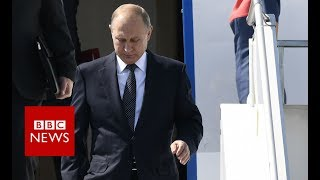 Russian President Vladimir Putin arrives in Helsinki  - BBC News