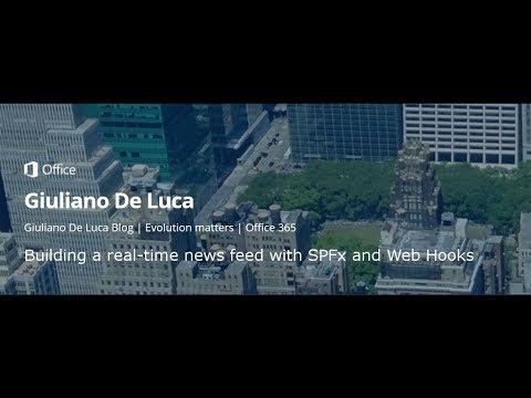 Building a real-time news feed with SharePoint Framework and