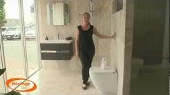 Elegant Bernini Tile Bathroom Design - Porcelain Tiles with a Silver Marble Look