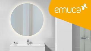 Video: Cassiopeia bathroom mirror with decorative LED lighting Ø60cm