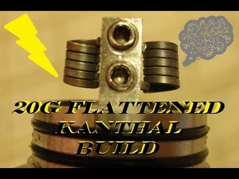 20G Flattened Kanthal - Vertical Coils - Velocity RDA