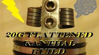 20G Flattened Kanthal - Vertical Coils - Velocity RDA