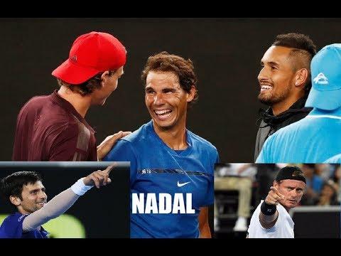 Rafael NADAL (ESP)  🎾 Brilliant passing shot  🎾 Kyrgios, Thiem, Djokovic, Berdych, Hewitt speechless