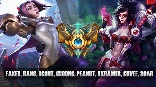 Challenger Match - Faker, Bang, Scout, Ggoong, Peanut, Kkramer, Cuvee, SoaR - KR SoloQ