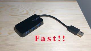 USB 3 0 HUB 5GBPS SPEED Targus 4 port usb hub Review amp Unboxing