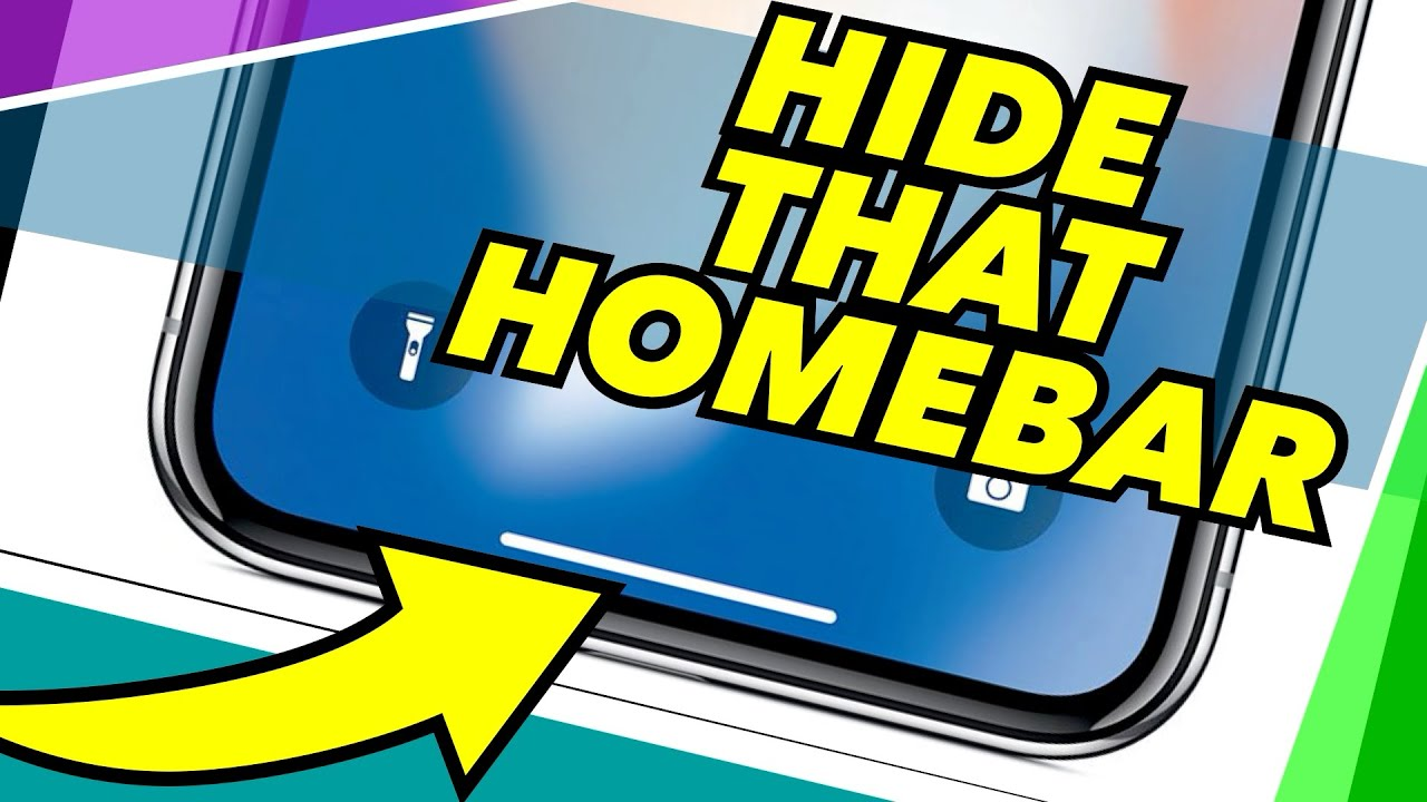 Hide Disable The Home Bar On Iphone X Without Jailbreaking Easy